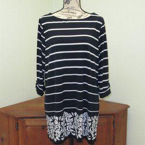 Women's Charter Club Striped Tunic Size 1X